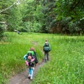Entering the Olympic Guard Station in Olympic National Park backcountry.- The Basics of Backpacking with Kids