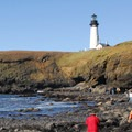 Yaquina Head Outstanding Natural Area: View of the tide pools and Yaquina Head Lighthouse.- Bureau of Land Management
