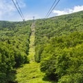 Looking up the Cannon Mountain Aerial Tramway.- 10 Favorite State Parks in New Hampshire