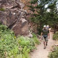 Hiking the Fowler Trail in Eldorado Canyon State Park outside of Boulder, Colorado.- Gear Review: Deuter Kid Comfort 2