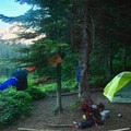 Dispersed Campsite in Oregon's Mount Hood National Forest.- Dispersed Camping on Public Lands