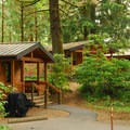 Rental cabins at Fort Stevens State Park- Best Coastal Campgrounds in Oregon and Washington