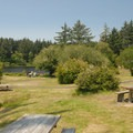 Picnic and day-use area at Fort Stevens State Park- Best Coastal Campgrounds in Oregon and Washington