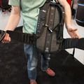 EVOC hydration pack with Lightshield Back Protector and extra snug, non-sliding waste straps.- Interbike 2015 Review