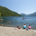 Beautiful views of Lake Crescent from Fairholme Beach.- 10 Family-friendly Destinations in Olympic National Park