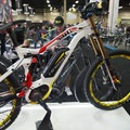 Haibike Downhill Pro e-bike with a battery range of 30-140 power assisted miles.- Interbike 2015 Review