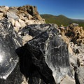 Obsidian from the Big Obsidian Flow.- Newberry National Volcanic Monument