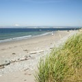 Port Townsend's North Beach with Mount Baker (10,781') in the distance.- Washington's 20 Best Beaches