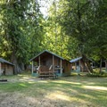 Log Cabin Resort in Washington.- Great Lodges of the West