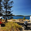 Typical campsite at Little Crater Campground.- Newberry National Volcanic Monument