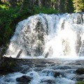 One of 10 waterfalls along the upper portion of Tumalo Creek.- Wednesday's Word - Tumalo