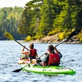 Rowing downriver in the Boundary Waters Canoe Area.- A Beginner's Guide to Paddling the Boundary Waters Canoe Area Wilderness