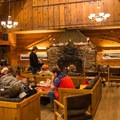 Central room at the Clair Tappaan Lodge.- California Winter Adventures Beyond the Ski Slopes