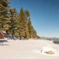 Cabin and bath house along the Orange Trail in Sugar Pine Point State Park.- Destination Lake Tahoe: Where Incredible Backcountry Snow Adventures Await