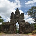 South Gate of Angkor Thom looking north.- A Guide to Exploring Angkor Archaeological Park