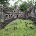 Overgrown courtyard at Preah Khan.- A Guide to Exploring Angkor Archaeological Park