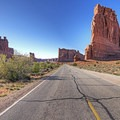 The road through Arches National Park is a classic stretch of Utah.- Must-do Scenic Drives in Utah