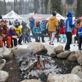 Fire circle after a full day at the 2016 Outdoor Retailer Demo Day at Solitude.- 2016 Outdoor Retailer Winter Market Review