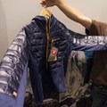 Montane's new hybrid hoody with down fill and POLARTE Power Stretch fabric.- 2016 Outdoor Retailer Winter Market Review