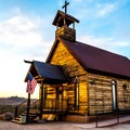 Goldfield Ghost Town church.- 3-day Itinerary for Mesa, Arizona