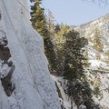 Ice Climbing in the canyon.- Brochures to Hashtags: Ice Climbing with San Juan Mountain Guides