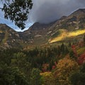 Search for moments where the light is mixed or only partially comes through the clouds. Sundance, Utah. - How to Photograph Autumn Colors