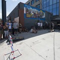 Some old-fashioned street games in 97 degrees at the Mile High Summer Shindig.- Annual Mile High Summer Shindig Recap