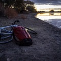 My bike commuting pack leaves the pole sticking out a bit. - Gear Review: Wetfly Backcountry Tenkara Fly Outfit