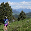 Views of the Absaroka Range from Chestnut Mountain.- 14 Hikes in Greater Yellowstone