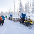 Loading up for the ski into Todd Lake on the final day.- Welcome Winter with an Avalanche Awareness Course