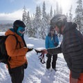 Checking the beacons prior to entering the backcountry.- Welcome Winter with an Avalanche Awareness Course