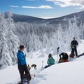 A quick break to refuel and manage layers under the sun.- Welcome Winter with an Avalanche Awareness Course
