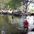 Rebuilding the rock walls of Kiholo's ancient fishponds. - Volunteering Vacations on Hawai'i's Big Island