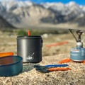 Though they are a bit flimsy, the telescoping foons that come with the GSI Outdoors Pinnacle Dualist Cookset are a great, light option when weight is a key factor!- Gear Review: GSI Pinnacle Dualist Cookset