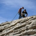 Guiding a rappel in the San Rafael Swell.- Tips for Leading Beginners into the Great Outdoors