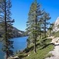 The trail overlooking Lower Echo Lake.- 5 Incredible Fall Hikes Near South Lake Tahoe