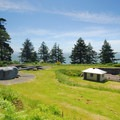 View south looking over the gun batteries at Fort Columbia.- Columbia River Harbor Defense System