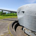 One of the two coastal artillery guns on display at Fort Columbia.- Columbia River Harbor Defense System