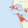 Fort Stevens Coastal Defense Map- Columbia River Harbor Defense System