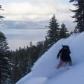 Powder with a view. Hidden Peak - Lake Tahoe.- Backcountry Skiing and Avalanche Safety
