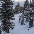 Skiing Hidden Peak - Lake Tahoe.- Backcountry Skiing and Avalanche Safety