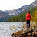 Standing at Emerald Point looking across the length of the bay.- 5 Incredible Fall Hikes Near South Lake Tahoe