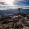 Sunrise warming the foothills of Mount San Jacinto.- On Danger and Discomfort