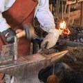Live blacksmithing at Empire Mine.- Exploring California's Gold Country