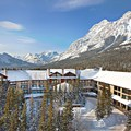 A great view of the mountain lodge.- 5 Reasons to Fall for Canmore Kananaskis in Alberta, Canada