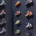 Salewa's colorful line of hiking boots and trail running shoes.- Outdoor Retailer, Winter 2015