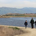 Family hiking along the trails at Alviso. (Photo courtesy of Vivian Reed, Save The Bay.)- Save The Bay: A Partnership for Restoration