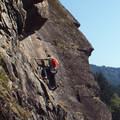 Climbing Beacon Rock.- Beacon Rock: Southeast Face