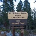 - Whitney Ravine Walk-in Campground