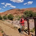 Finishing the Arizona Trail for the second time at the Utah Border, May 2014.- Woman In The Wild: Sirena Rana Dufault
